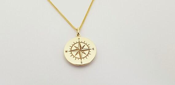 Kompass, Kette, Gold Conpass, Halskette, Halskette Kompass, Fuchsschwanz Kette, by Etsy