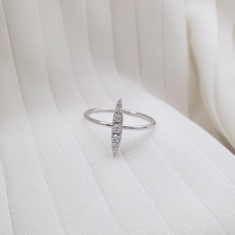 Engagement ring rose gold, Unique Engagement Ring Thin diamond ring Wedding Ring Diamond ring Diamond engagement ring