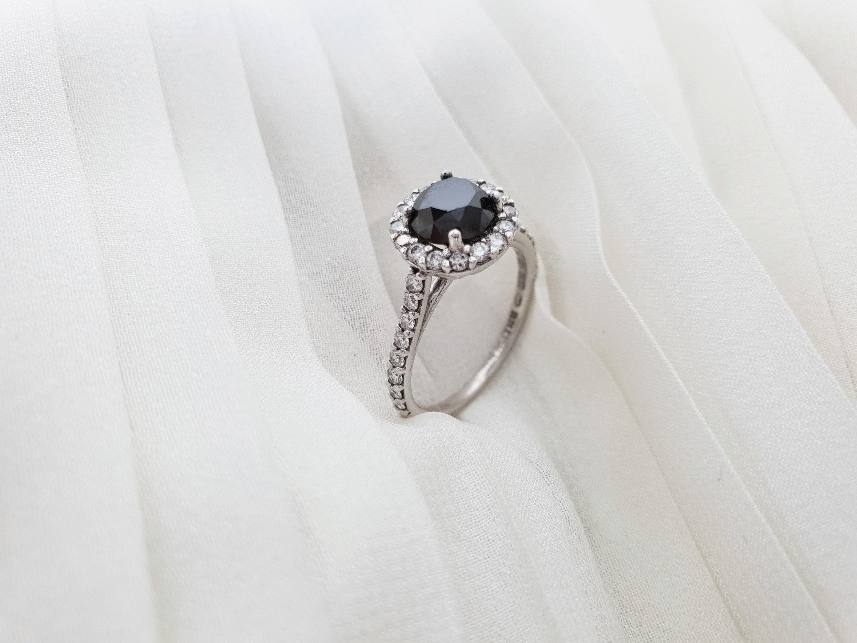 Wedding Ring Black Diamond Ring Black Diamond Engagement Etsy