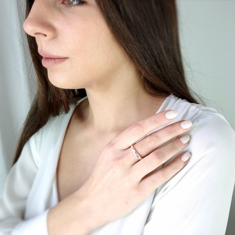 Wedding Ring Wedding ring Diamond ring princesse Diamond Engagement Ring In K18 Solid Gold Diamond Engagement Ring