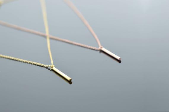 Bar Halskette, Massivem Gold Bar, Bar Stick Kette, Gold Stick Halskette, Goldhalskette, Rose Gold Halskette, Halskette, Frau Schmuck, Gold by Etsy