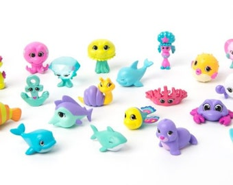 Splashlings Surprise Bath Bombs,Splashlings Surprise Bath Fizzy Fizzies with a surprise Splashlings Toy, Large Pink, Prize Inside