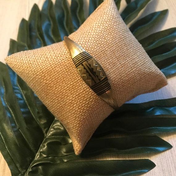 Unisex handmade Akan brass bracelet