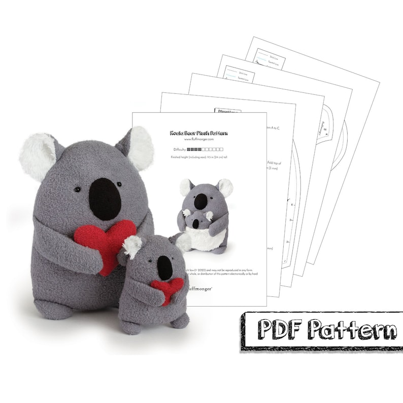 Koala PDF Sewing Pattern and Tutorial Step-by-Step image 0