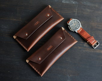 Horween leather watch case, leather watch pouch, leather anniversary gift for him, The No. 20