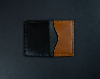 Hand stitched leather wallet, personalized cards wallet, custom wallet, The No. 91 Lifetime Guaranteed