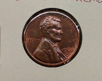 1960 D Lincoln Memorial Penny  Old American coin  Very | Etsy