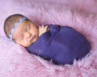 Violet lace headband/toddler headbands/infants/hair