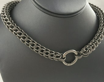 Stainless Steel Full Persian Chainmaille Collar