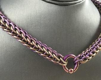 Full Persian Titanium Pup Collar