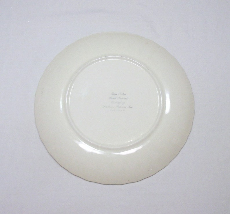 Blue Ridge Southern Potteries  ~ Erwin Rose #6826 pattern ~ Handpainted ~ 10 14 Dinner Plate  ~ Made in USA
