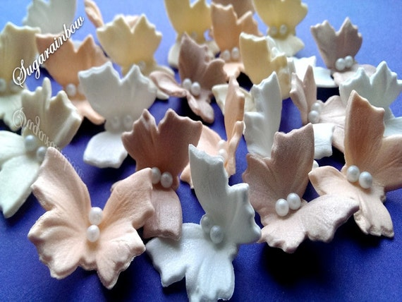 20 Edible sugar butterflies decorations  for cake cupcake toppers