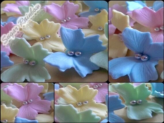 20 Edible sugar fondant butterflies decorations cake cupcake topper pastel colours
