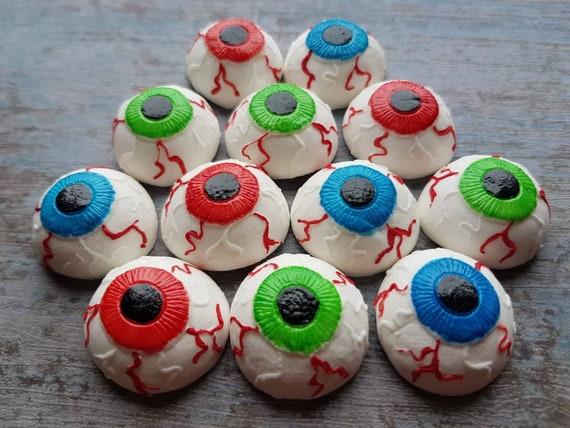 12 Edible sugar paste fondant Halloween cake decorations eye balls cake cupcake toppers decorations