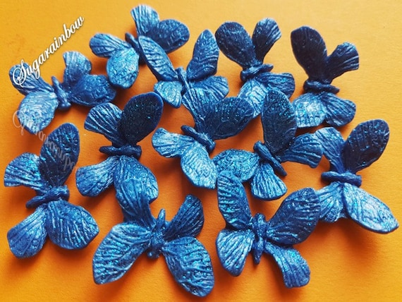 12 Edible sugar butterflies decorations  for cake cupcake toppers