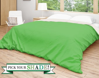 Green Duvet Cover, Solid Green Bedding, Light Green Bed Spread, Dark Green  Duvet