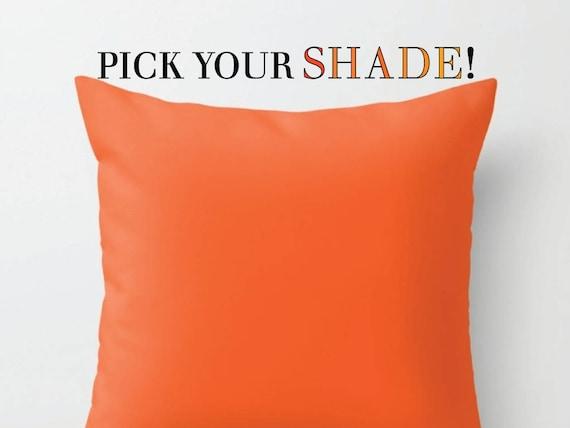 Orange Throw Pillow Decorative Pillow 40x40 40x40 40x40 Etsy Stunning Bright Orange Decorative Pillows