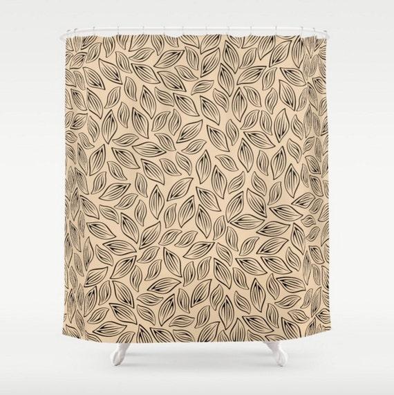 Leaves Shower Curtain Large Beige Bath