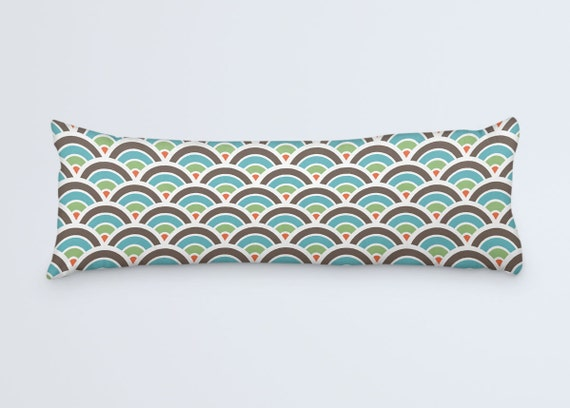 Retro Patterned Body Pillow Cover 40x40 Pillow Case Modern Etsy Interesting Body Pillow Cover 20 X 54