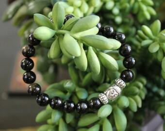 Golden Obsidian Buddha Bracelet