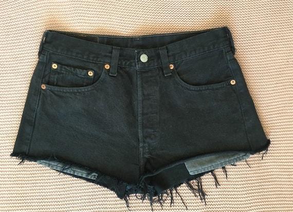 Vintage Women's Levi's 501 Cut-off  Black Shorts