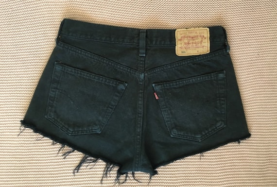 Vintage Women's Levi's 501 Cut-off  Black Shorts