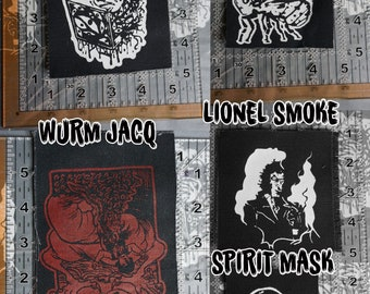 COTCA sew-on screen printed patches