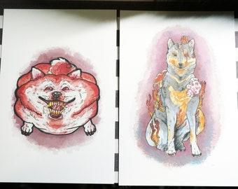 Horror Shiba prints