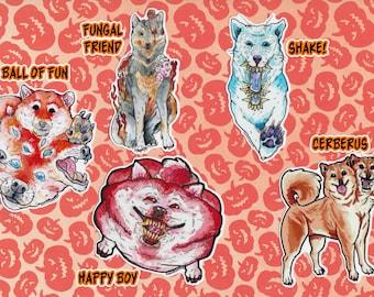 Horror Shiba stickers