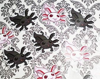 Axolotl vinyl stickers