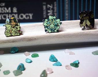 Astaroth, Buer and Malaphas hard enamel pins