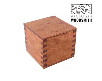 Mini Cherry Wood Salt Cellar   Salt Pig   Sugar Dish   Sugar Bowl   Wooden Box   Salt Box