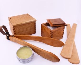 Handmade Housewarming Kitchen Bundle   Newlywed Set   Housewarming Gift   Artisan Kitchen Tools   Salt Cellar   Wooden Tongs   Sauté