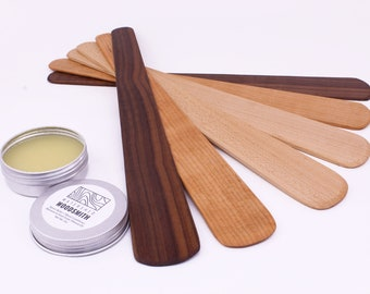 Sauté   Wood Spatula   Bench Scraper   Wood Utensil   Stir Tool   Wooden Kitchen Utensil   Stir and Flip Utensil