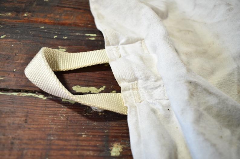 Vintage American Linen Drawstring Duffle Laundry Bag