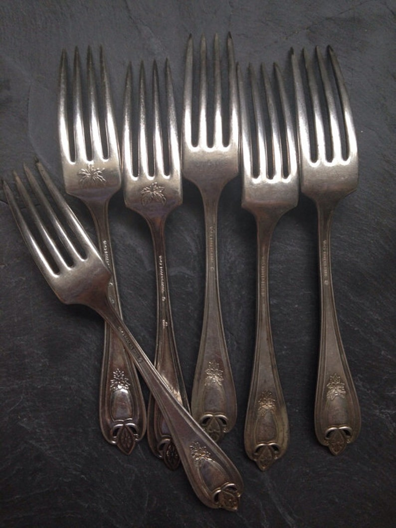 Set of 3 Antique 1847 ROGERS Bros 1911 OLD COLONY Dinner Fork 7 12 by Lashar