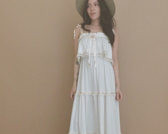 70's BOHO SUN DRESS // wedding dress // boho wedding dress