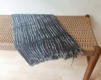 MALI INDIGO MUDCLOTH // african mudcloth // light blue // tribal throw // indigo cloth // indigo throw // mudcloth fabric // mudcloth throw