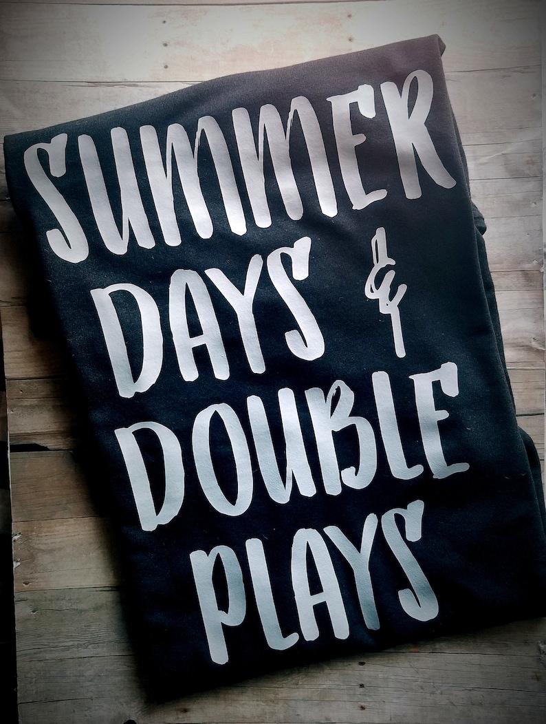 cf91d41a9852 Summer Days and Double Plays Baseball Shirt Tshirt