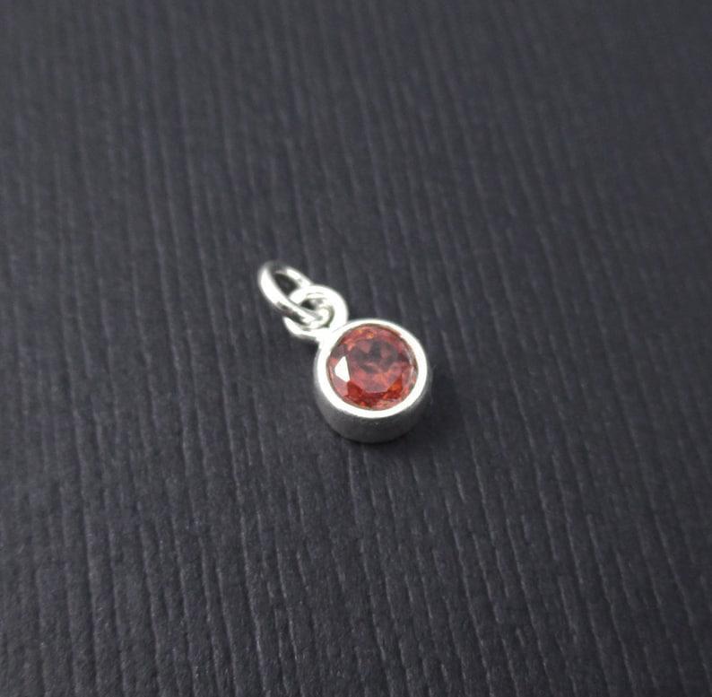 73da14aaaa31b Add a Gemstone Birthstone Charm Dangle - January Birthstone Charm Sterling  Silver, Garnet Charm Dangle, Bezel Gemstone