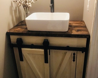 Farmhouse Bathroom Vanity Etsy