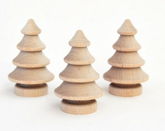 small christmas treesminiature wooden treessmall xmas treeschristmas decorationspine treesnordic 3 natural wood christmas trees - Small Decorations For Christmas