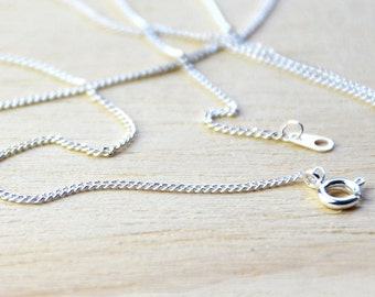 Silver Plated Chain Necklace//Silver Plated Chain- 75cm long