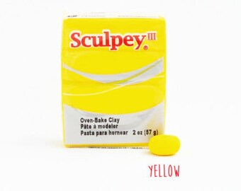 Polymer clay - Yellow - Sculpey III Oven Bake Modelling Clay