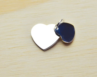 Love heart charm // Double heart silver plated charm// heart charm // love heart charm//bridesmaid gifts//gifts for her