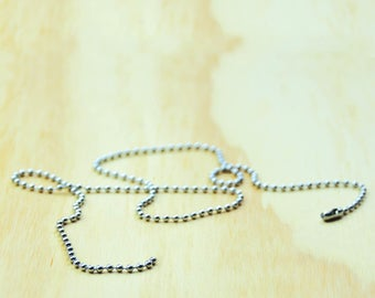 Stainless steel ball chain//Ball Chain necklace - Stainless steel 50cm long necklace