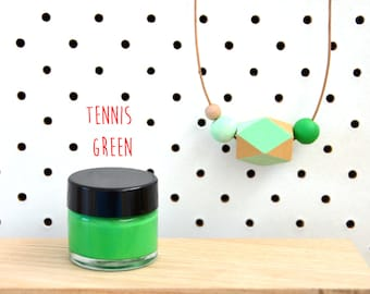 Wood Paint  - Tennis Green- 15ml jar - 10 Beautiful Colours Available.