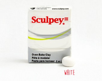 Polymer Clay - White - Sculpey III Oven Bake Modelling Clay
