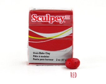 Polymer Clay - Red  - Sculpey III Oven Bake Modelling Clay