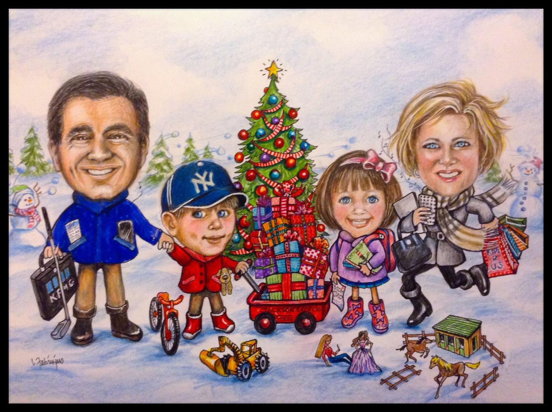 Custom Christmas card Caricature CHRISTMAS Christmas cards | Etsy